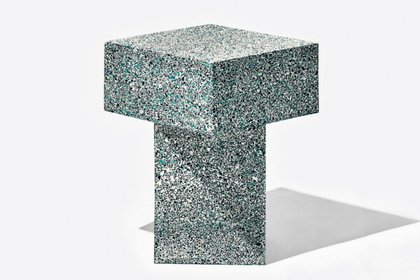 Table Terrazzo Blue High