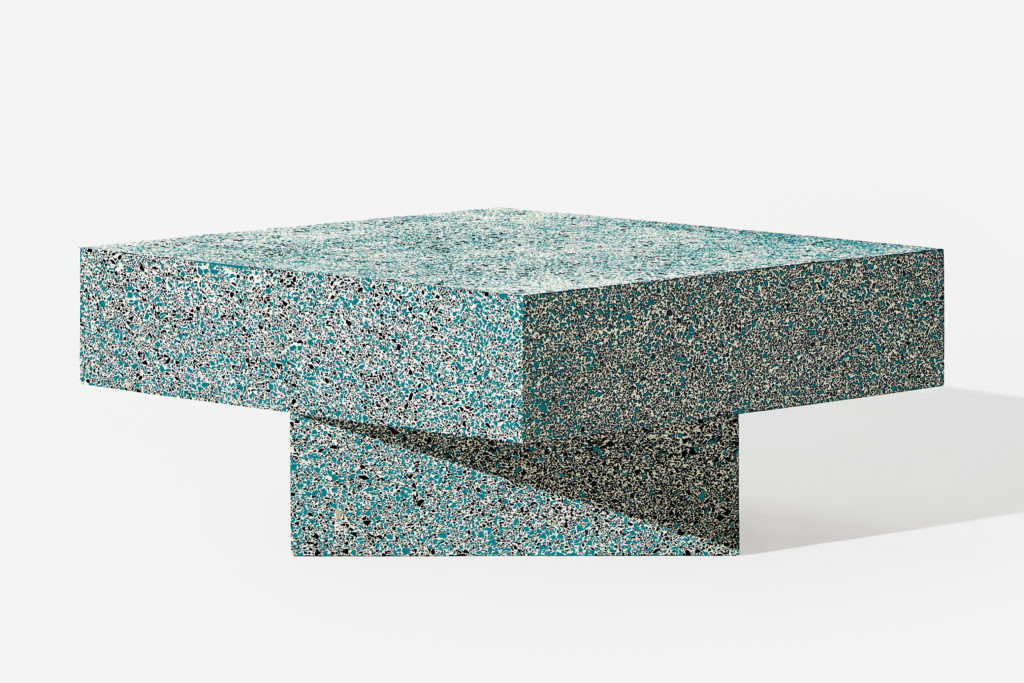 Table Terrazzo Blue Low