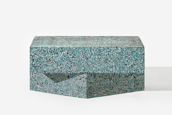 schoenstaub Table Terrazzo Blue Low