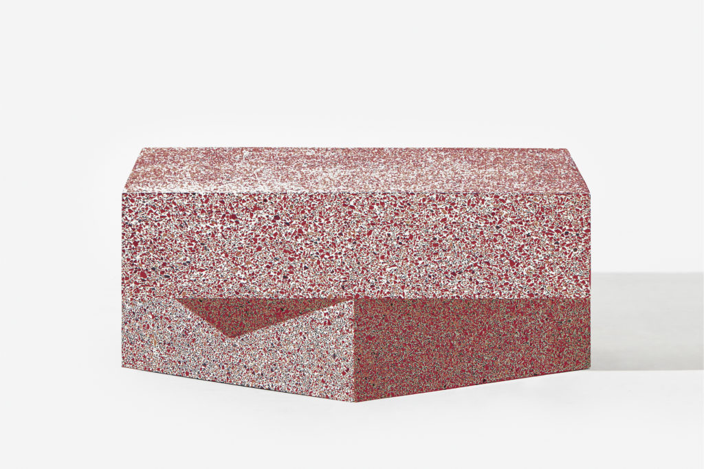 Table Terrazzo Red Low