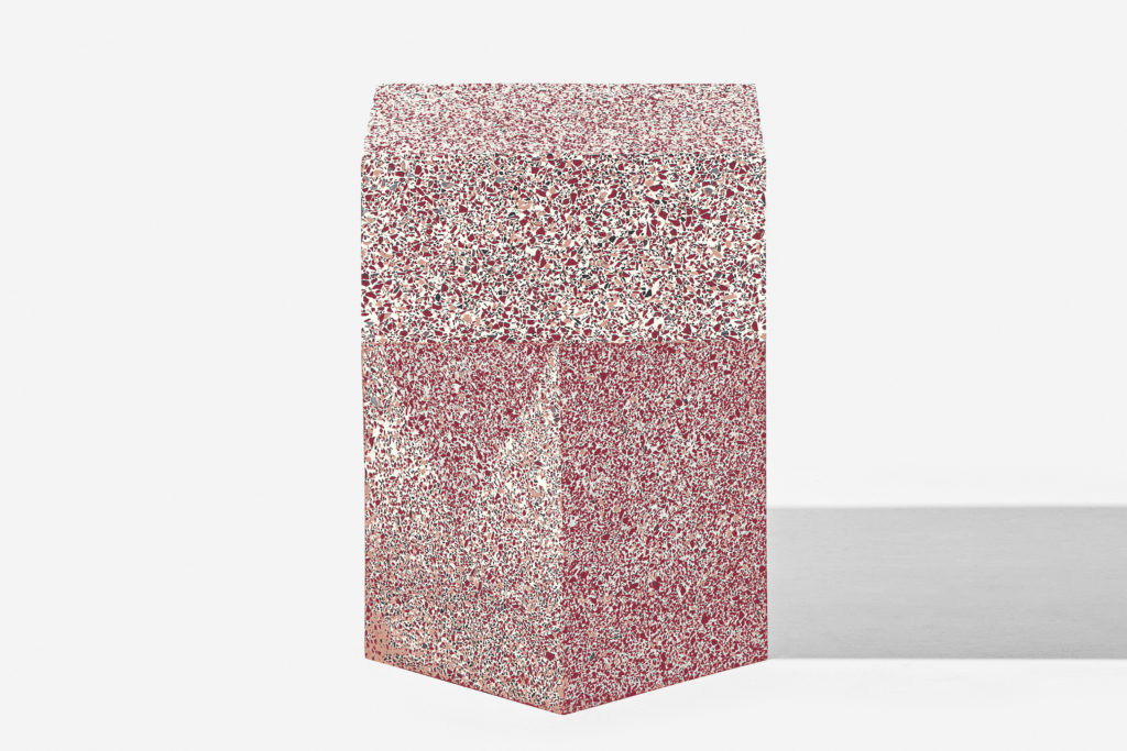 Table Terrazzo Red High